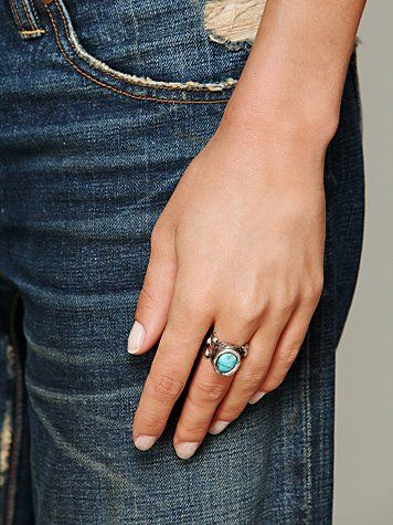 Filagree Stone Ring @ Free People. This is gorgeous!