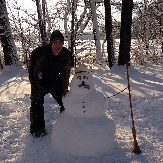 @vetteking95 My quick snowman for the #vfcc snowman competition. #vfccseasons #vfccsnowman That mustache.