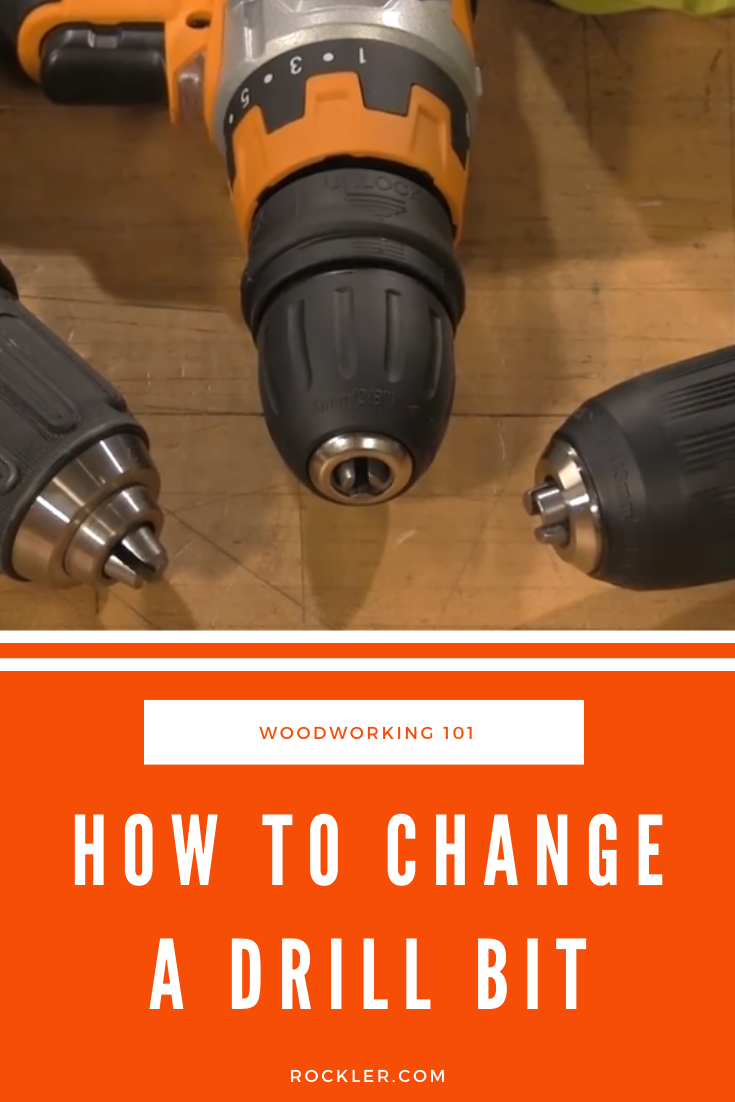 How To Change A Drill Bit Rockler Drill Bits Drill Woodworking Videos