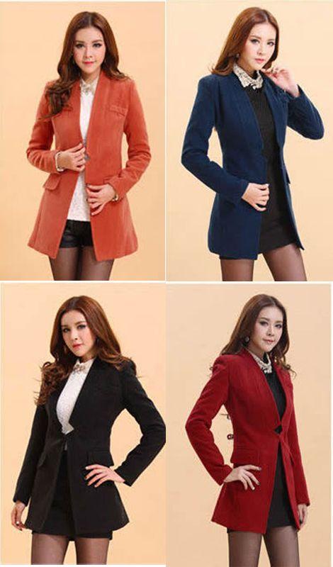 Cheap Winter new Korean Women Slim and long sections woolen woolen ...