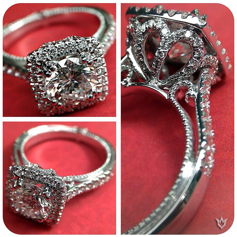 Love the stand! The Couture Collection of diamond engagement rings by Verragio