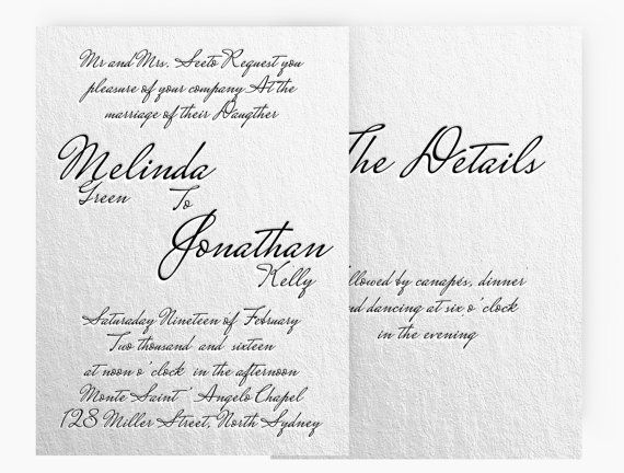 Diy Word Template Wedding Invitation Stationary Set Editable Word