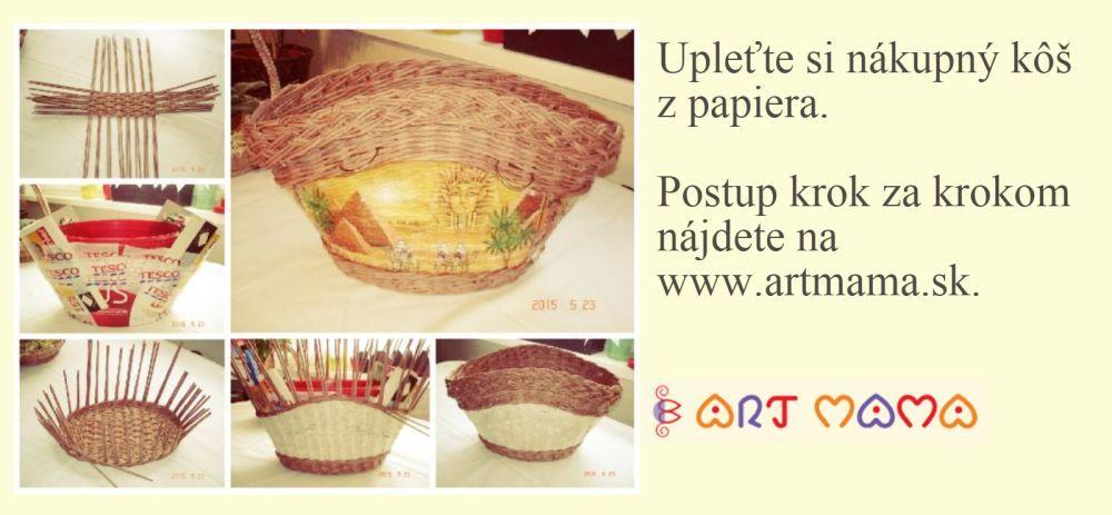 1bf1e0651 Košík na nákup z papletu, fotopostup   Paplet - papierové pletenie ...