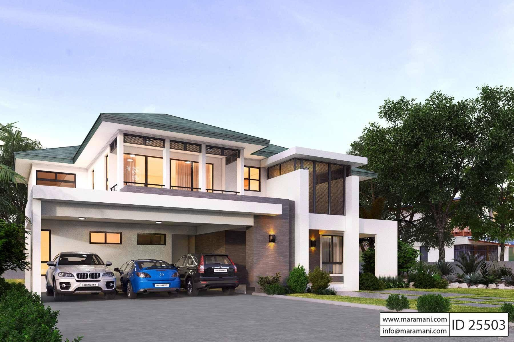5 Bedroom Plan Id 25503 Modern House Plans 5 Bedroom House Plans Architectural House Plans
