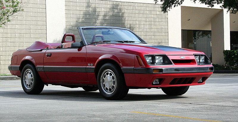 Bright Red 1986 Mustang Gt Convertible Mustang Gt Fox Body Mustang Fox Mustang