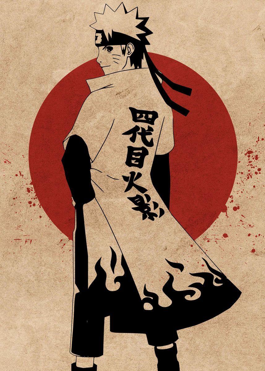 Photo of 'Naruto The Hokage' Metal Poster Print – Everything Anime | Displate