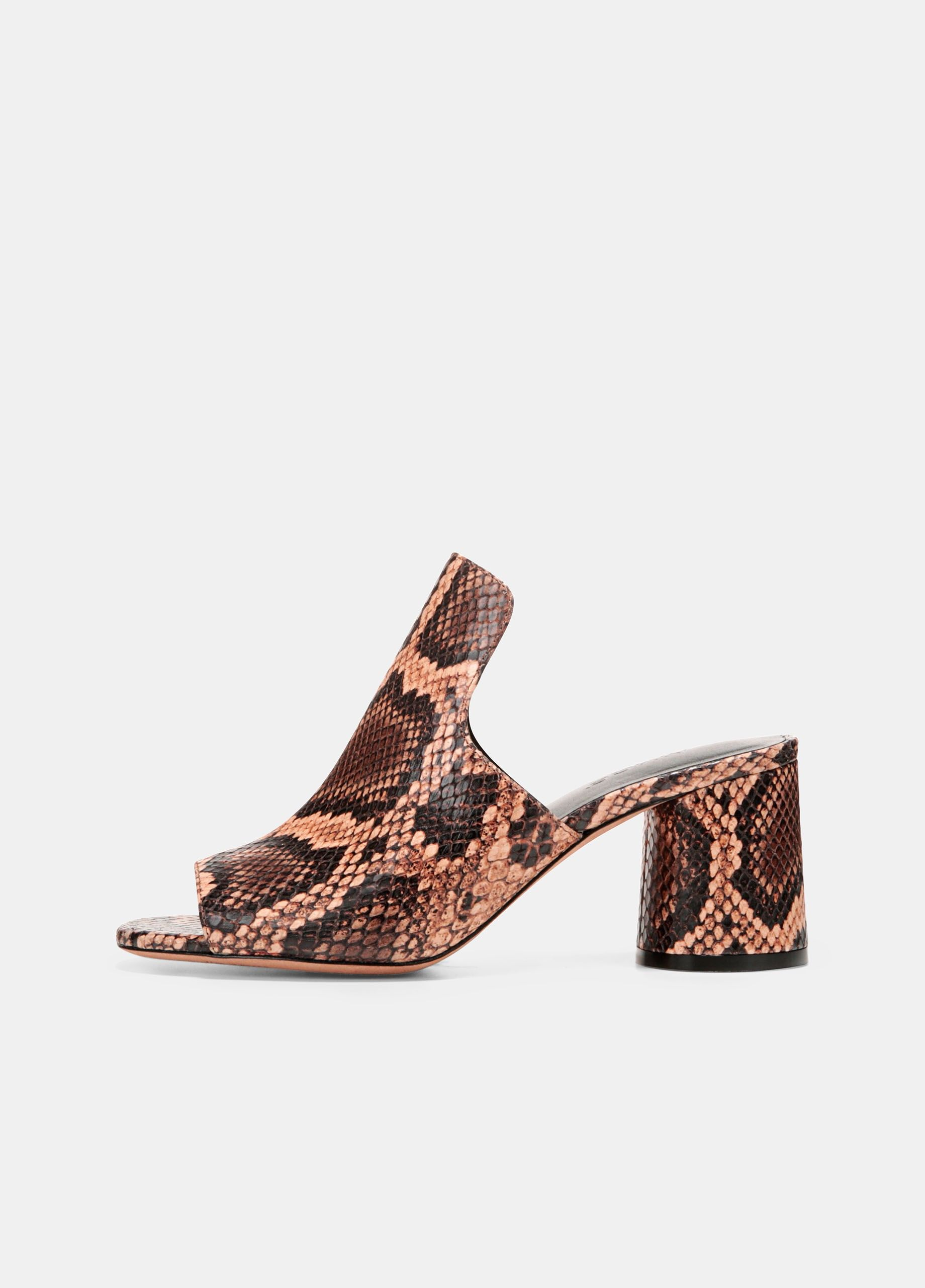 bba20702b47 Tanay Snake-Print Leather Slides - Senegal by Vince in 2018 ...
