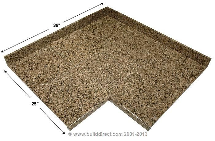 BuildDirect: Granite Countertops Modular Granite Countertops Desert Brown  Inside Corner ...