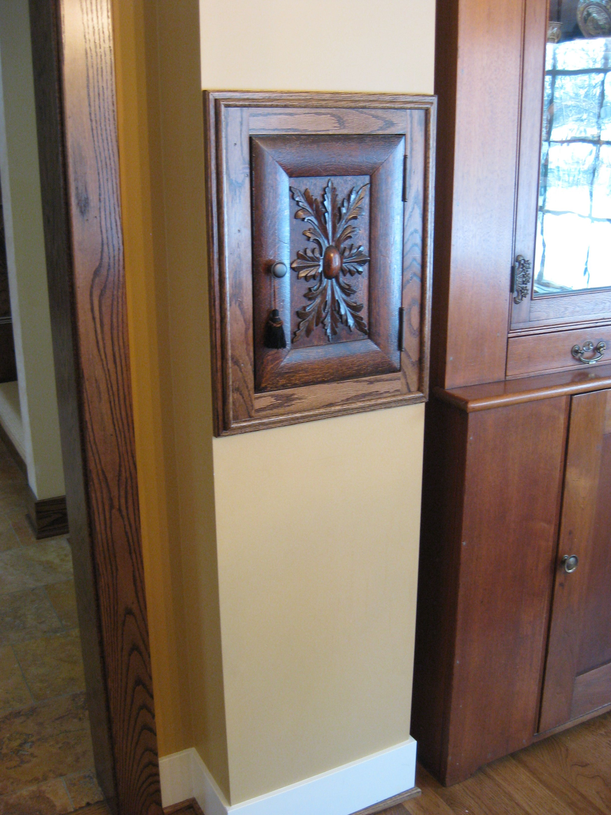 Laundry chute door salvaged from an old cabinet home for Laundry chute design