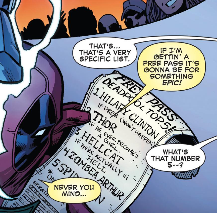 Deadpool's free