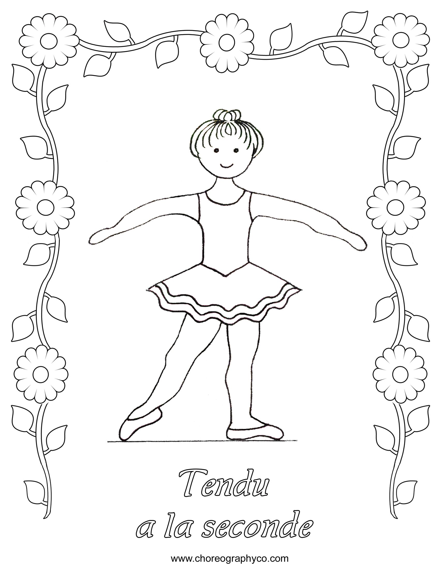 Ballet Coloring Pages Google Search Second Position Dance