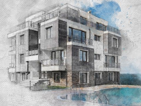 Architecture Sketch Photoshop Effect Tutorial Youtube Sketch