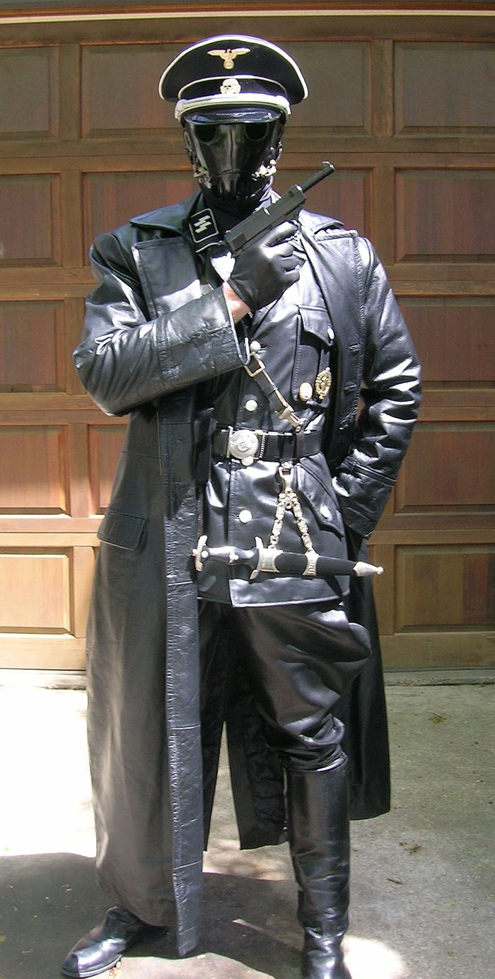 WW2 German Leather officers leather trench coat - Gestapo SS