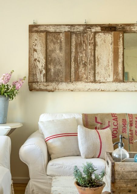 Old Door As Wall Art Linen Pillows