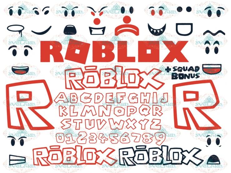 Roblox svg, Roblox logo, alphabet clipart, Face font