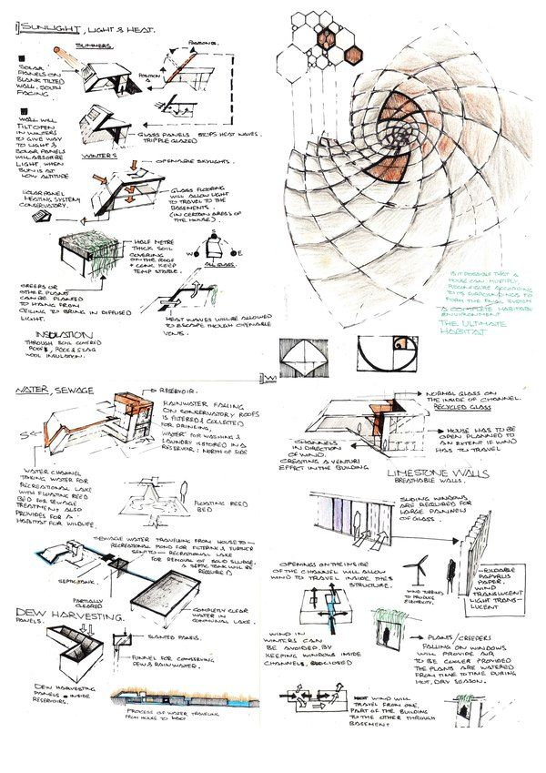 Undergrad Architecture Projects SketchesGreen