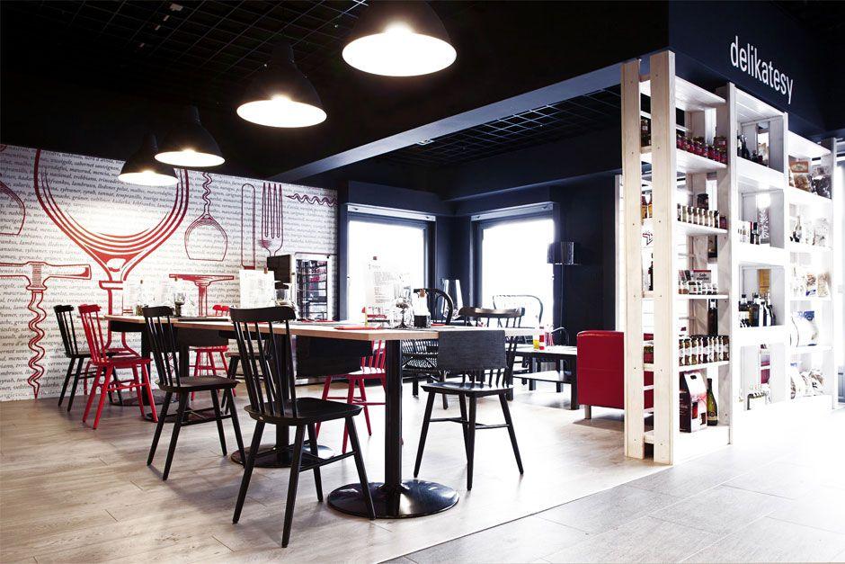 Mode Lina Architekci Architekt Projekty Wnetrz Poznan Fiesta Del Vino Wine Bar Bar A Vin Design De Restaurant Et Design D Interieur Du Bar