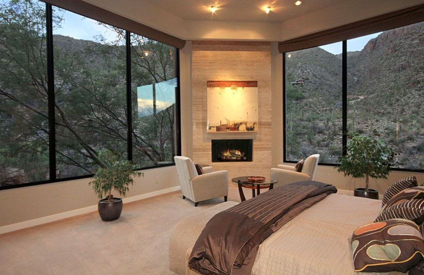 Luxury Master Bedrooms With Fireplaces Luxury Bedroom Master