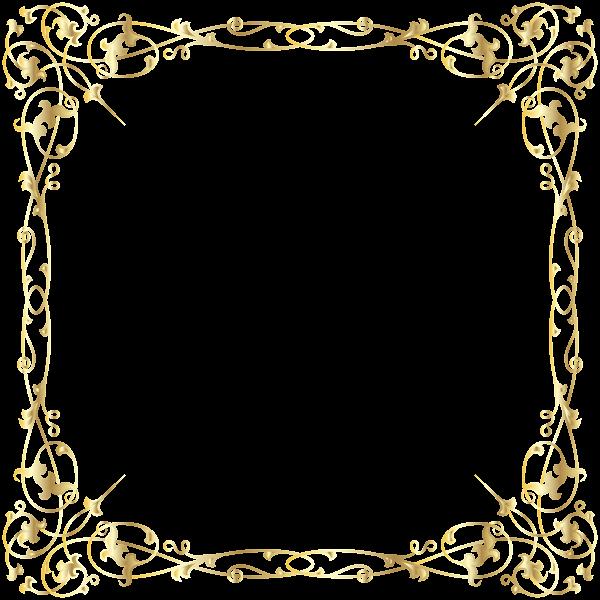 Decorative Border Transparent Png Image Decorative Borders Floral Border Gold Frame