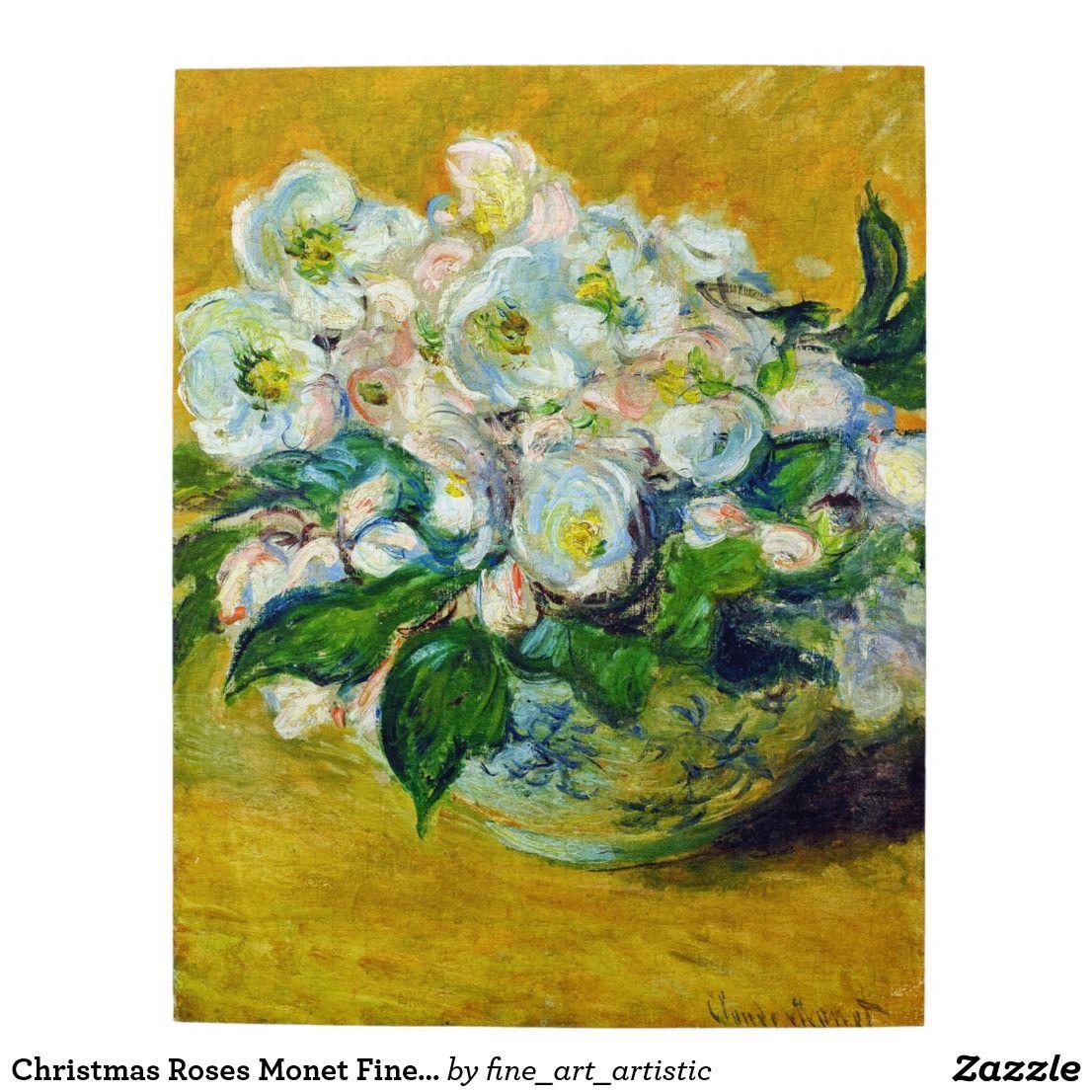 Christmas Roses Monet Fine Art Jigsaw Puzzle