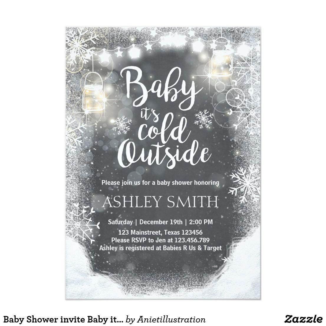 Baby Shower invite Baby it\'s cold outside Winter | Babies, Winter ...