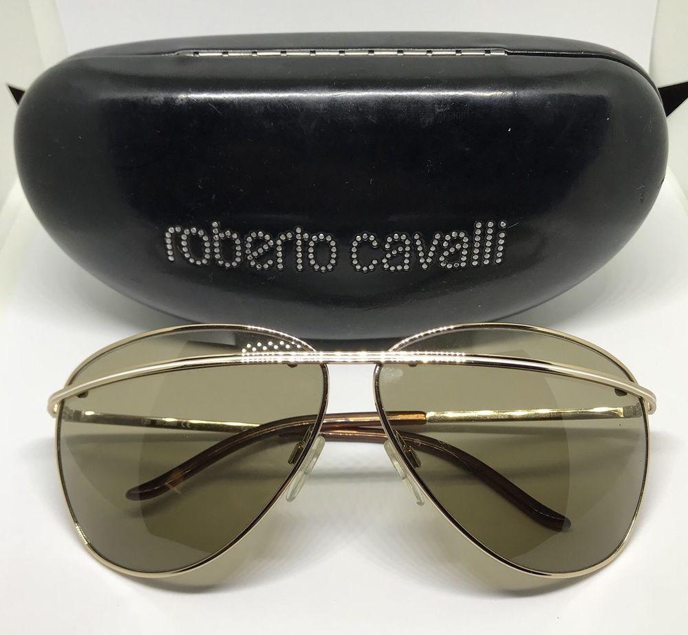 wholesale online lowest discount new styles Roberto Cavalli Sunglasses + Case Aviator Just Cavalli Gold ...