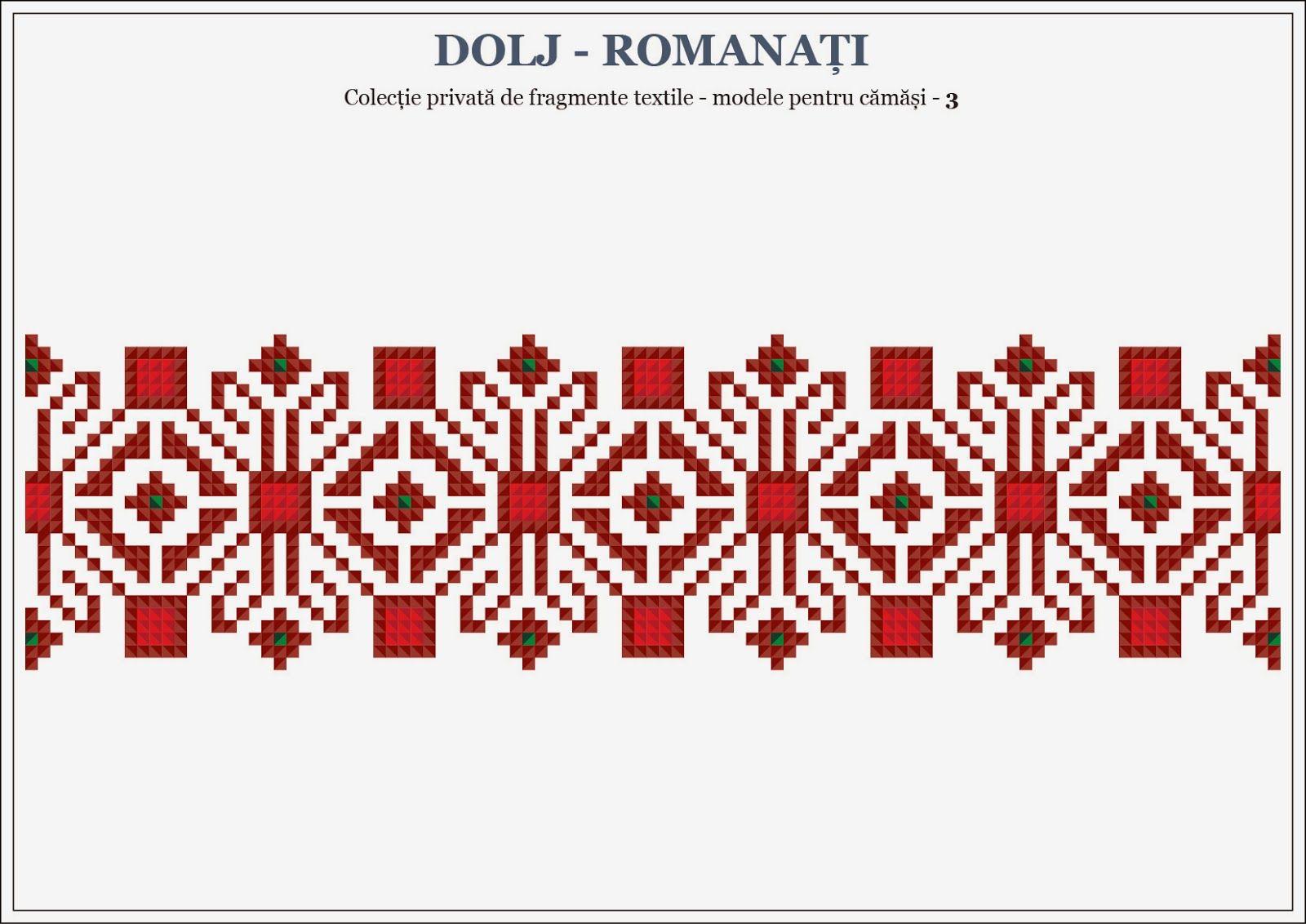 Semne Cusute Romanian Traditional Motifs Oltenia Dolj Romana Beading Romania