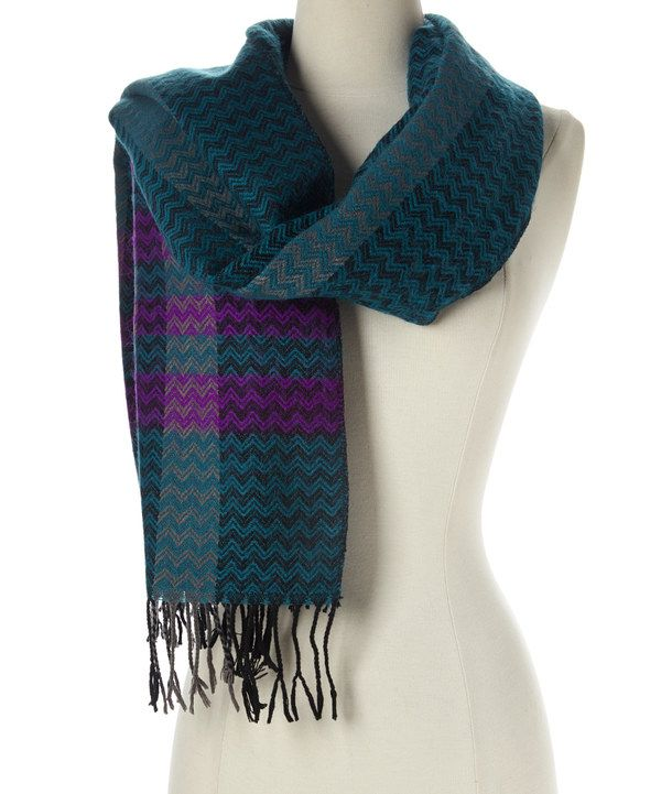 Look at this Barrington Green Chevron Scarf on #zulily today!