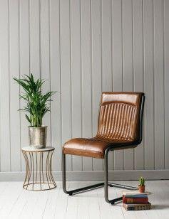 Italian Leather U0026 Steel Office Chair Image