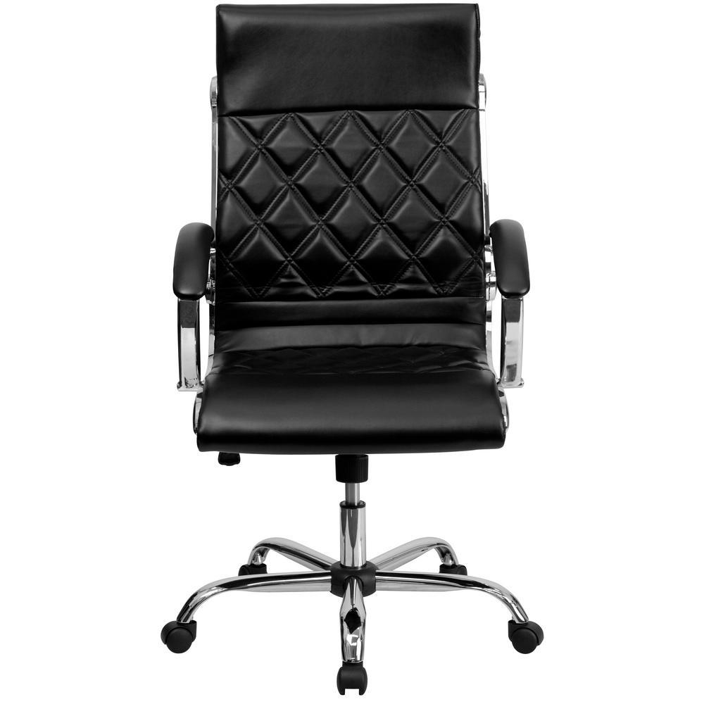 Flash Furniture High Back Designer Black Leather Executive Swivel