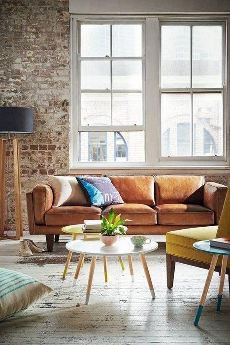 32 Interior Designs With Tan Leather Sofa Interiordesignshome Com Minimalist Living Room Decor Minimalist Living Room Living Room Sofa