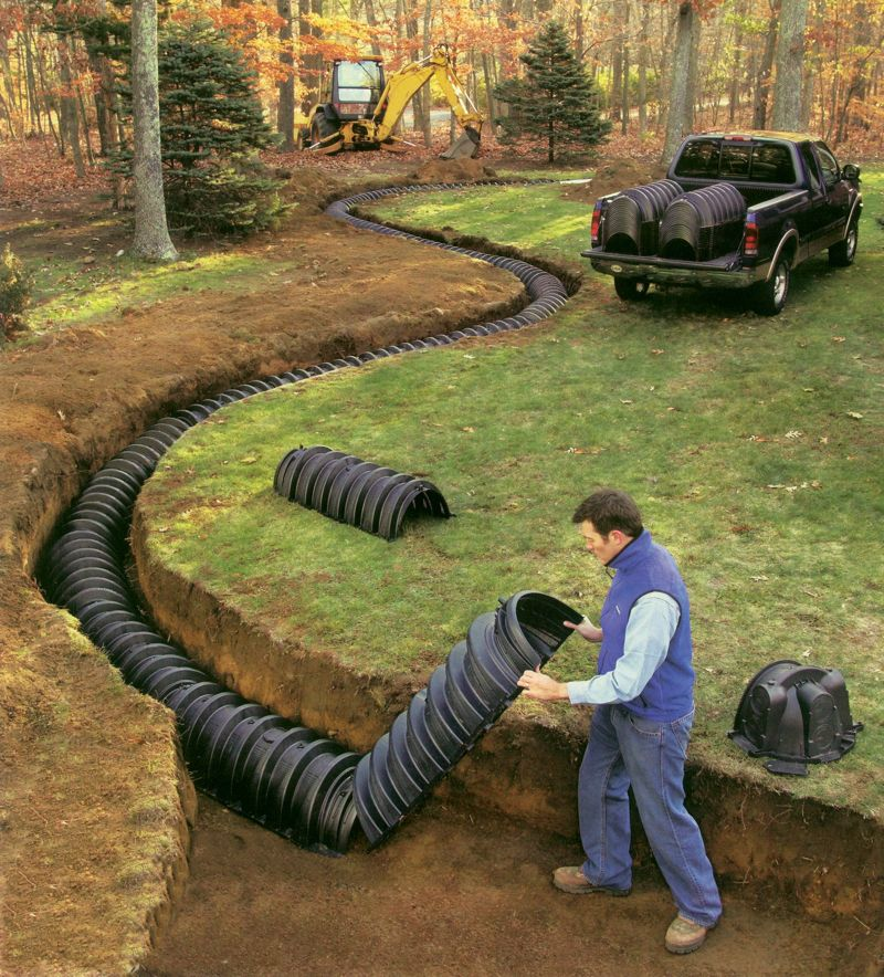 Soakaway tunnels if you are considering replacing or for Cabin septic systems