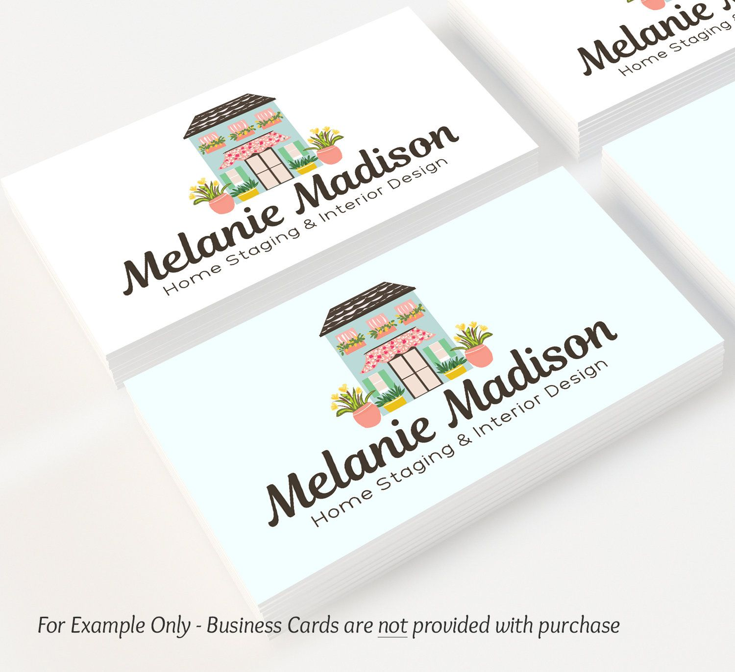 Premade logo house design customized with your business name also rh pinterest