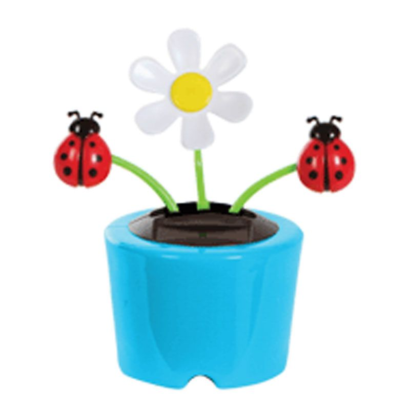Solar Powered Dancing Flip Flop Toy Flower Bug Plant Pot Swing Balligifts Com Dancing Daisy Solar Power Crafts