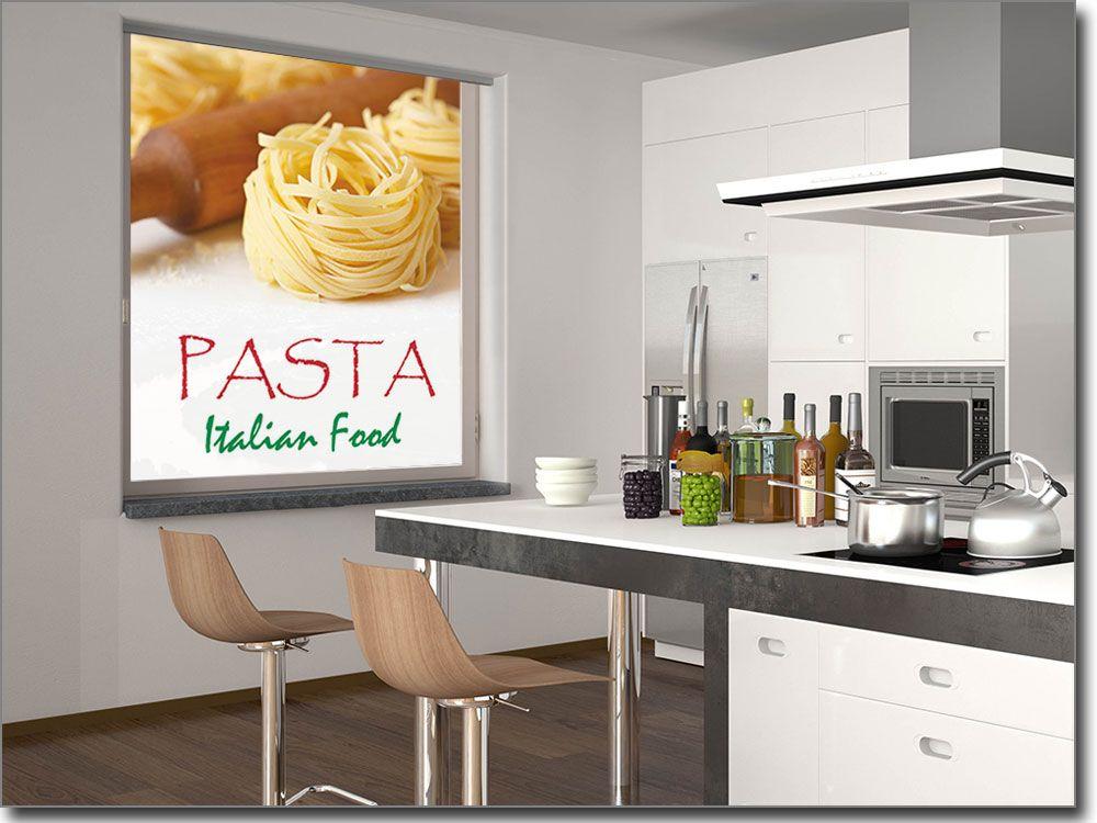 selbstklebendes Glasbild mit Pasta und Wunschtext Fotofolien für - glasbilder für die küche