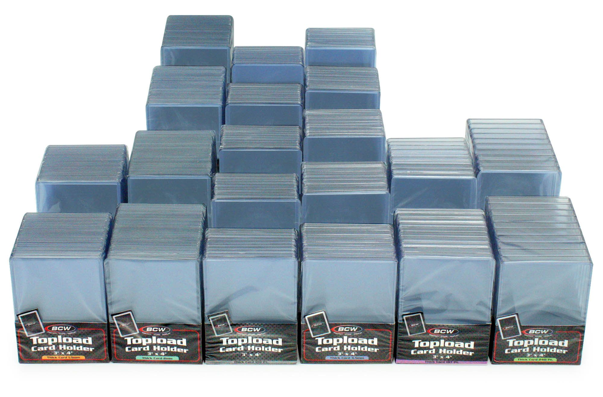 Mixed Case Of Thick Card Topload Holders In 2020 Card Supplies Cards Sports Cards Collection