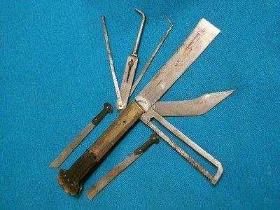 RARE ANTIQUE HORN CHINESE DRS DOCTORS MEDICAL SURGICAL KNIFE - beste k chenmesser der welt