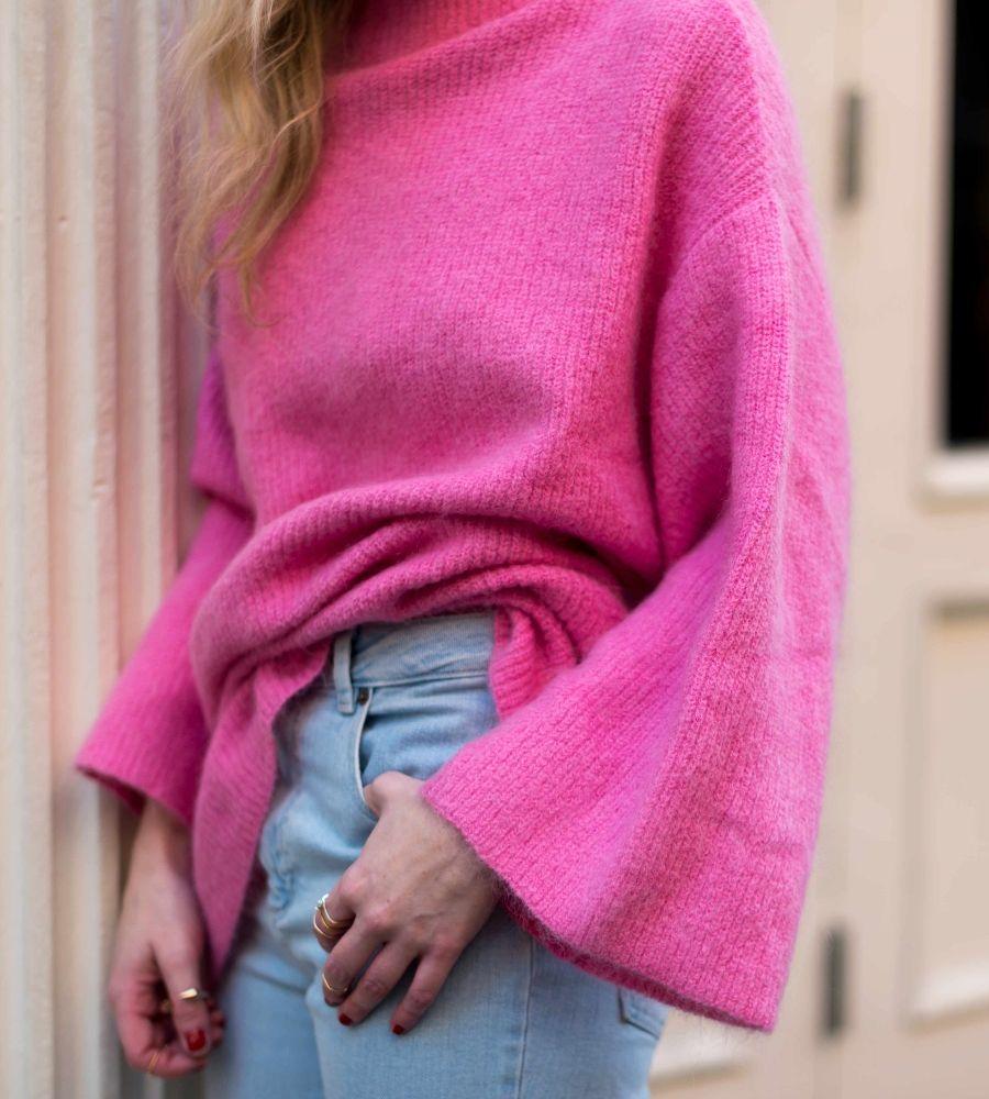 Knit Mock Turtleneck Sweater at Yael Steren Store | Lookave ...