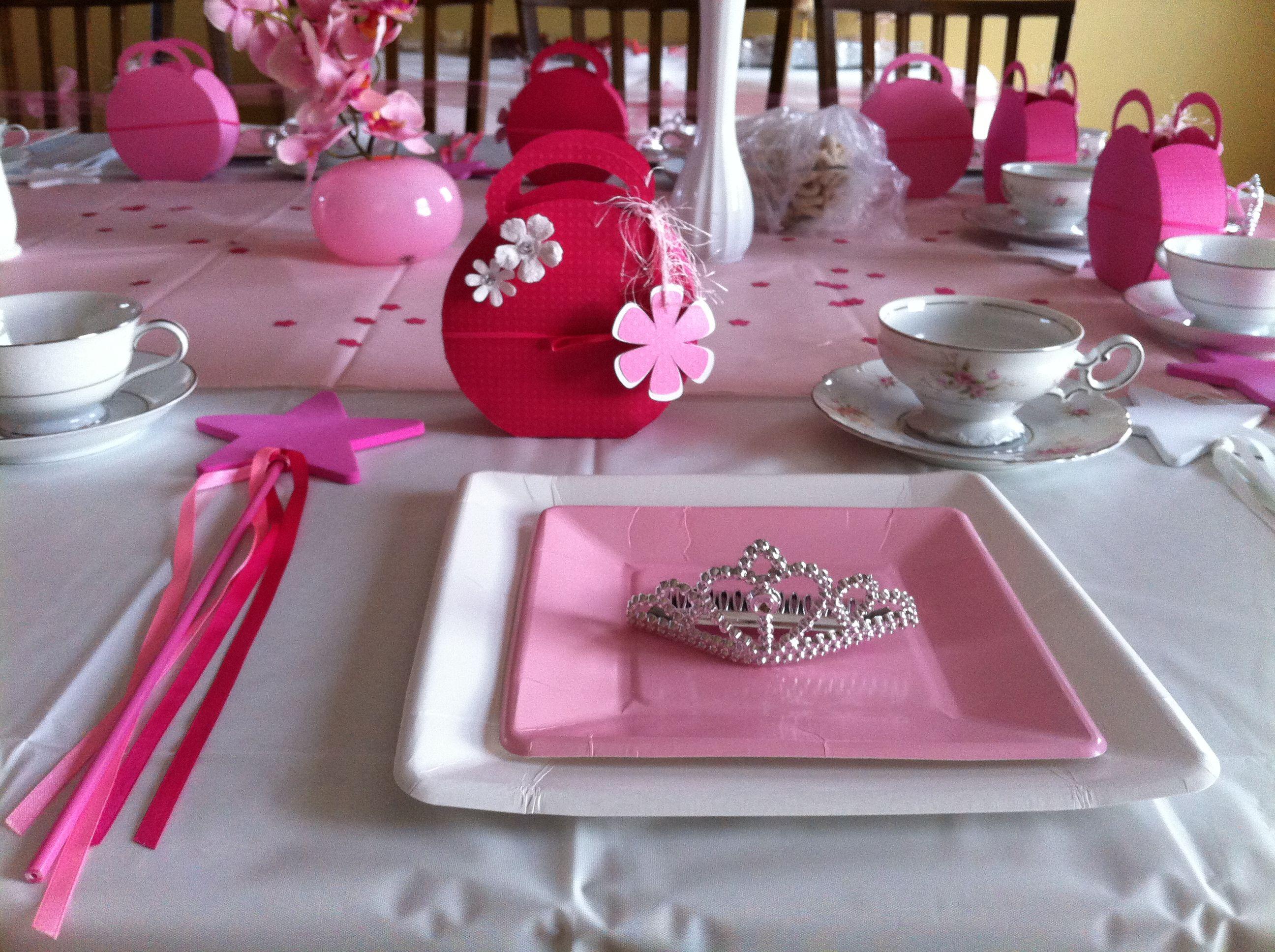 Kids tea party table - Princess Tea Party Table Setting