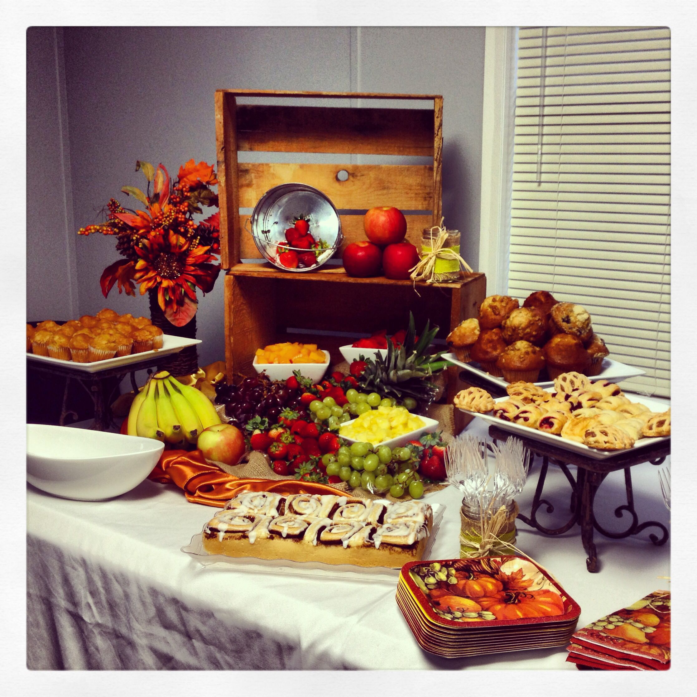 Breakfast Display I Did For A Companys Corporate Meeting