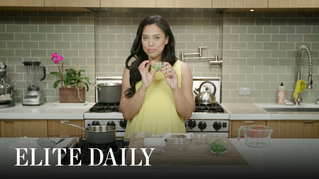 "How Ayesha Curry Cooks Up ""Almost"" Thai Chicken Soup [Eat With Elite] 