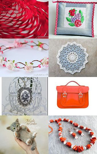 Friendship of Grey and Red by Asta on Etsy--Pinned with TreasuryPin.com