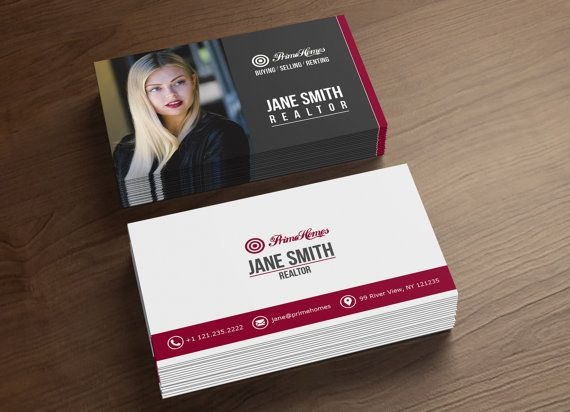 real estate business cards realtor business card digital file only printable business card - Real Estate Business Cards