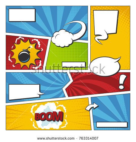 Stock Vector Comic Book Vector Frame Set With Speech Bubbles