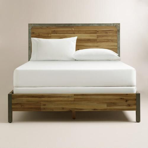 Wood And Metal Aiden Bed Bedroom Inspirations Bed Building Furniture