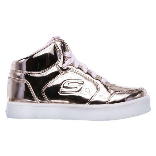 skechers light up shoes rose gold