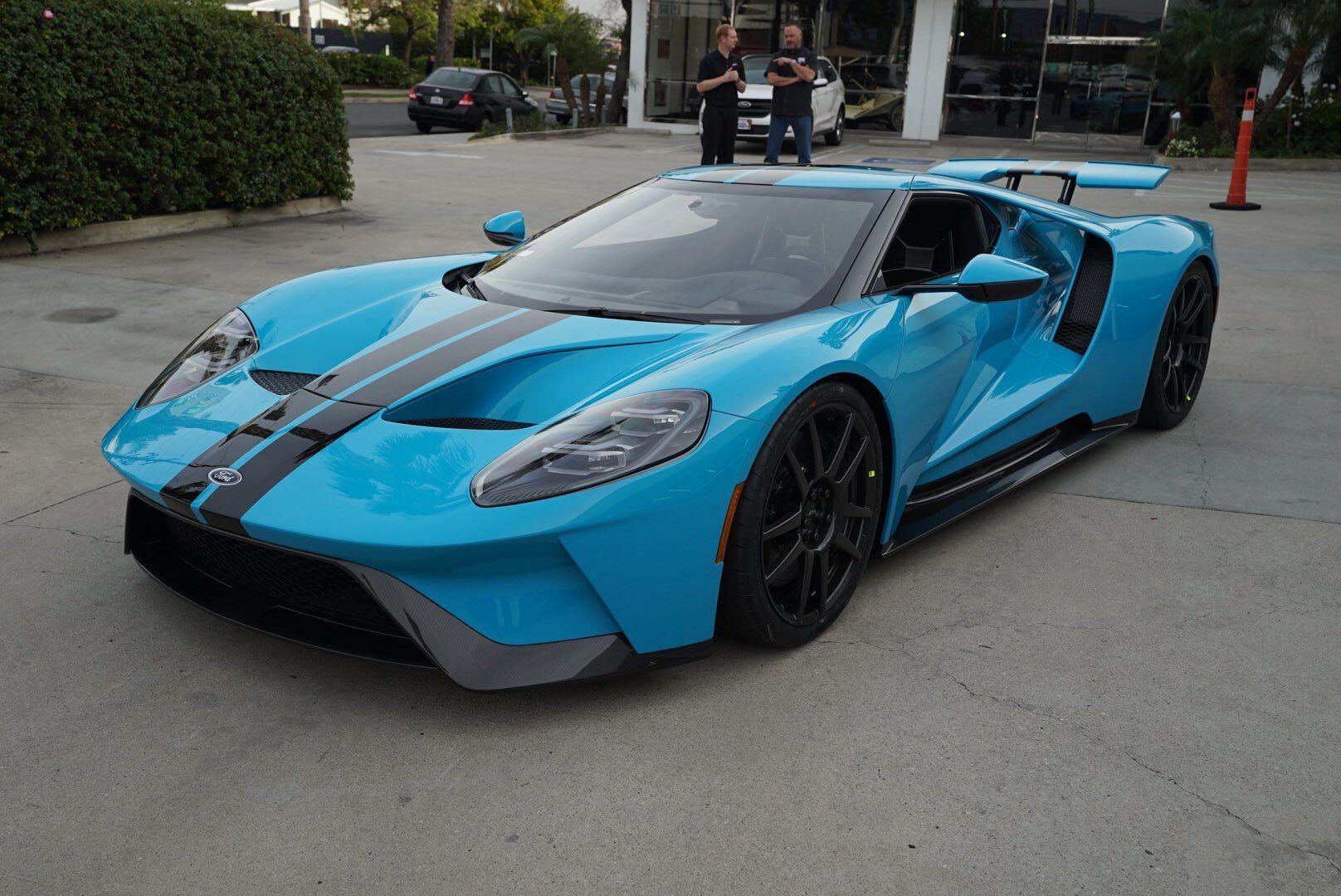 Ford Gt Painted In Porsche Paint To Sample Miami Blue W Black Central Stripes Photo Taken By Jordanmaron On Instagram Owned By Jordanmaron On Instagram
