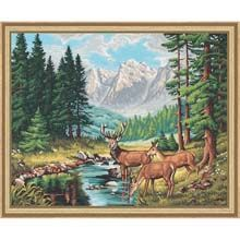 Schipper Peaceful Mountain Landscape  Paint-by-Number Kit