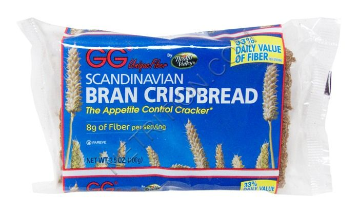 Gg Scandinavian Bran Crispbread At Netrition Com High Fiber Crackers Nutrition Labels Sugary Snacks