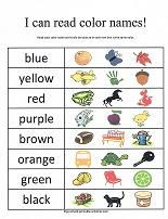 fun worksheets and coloring pages for learning to read color names printable color bingo game cut and paste color matching and lots more